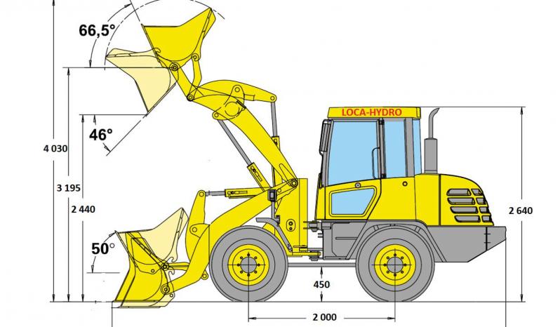 Chargeuse articulée à pneus KOMATSU WA 75-3 complet