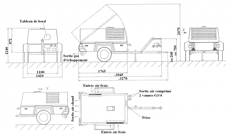 Compresseur KAESER M31 plein