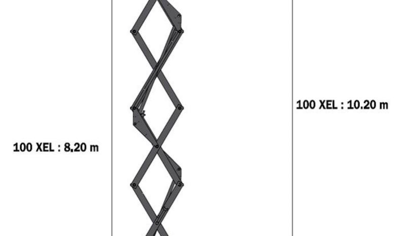 Nacelle ciseau électrique manitou 100XEL 10M complet