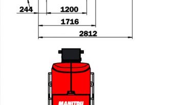 Nacelle mat vertical électrique MANITOU 105VJR 10 M complet