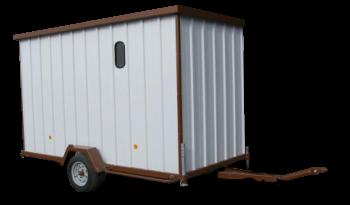 Cabane de chantier tractable complet